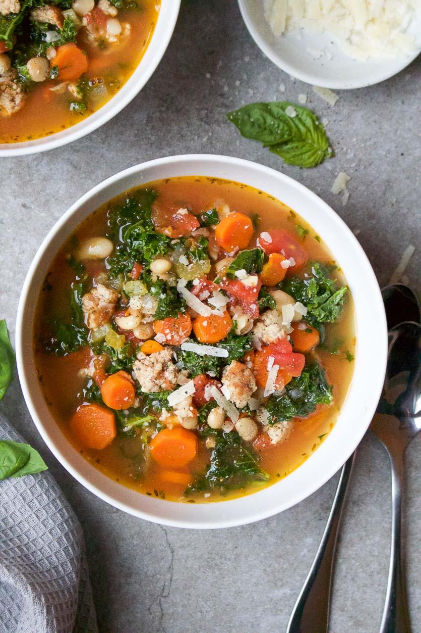 Italian Sausage Kale Soup