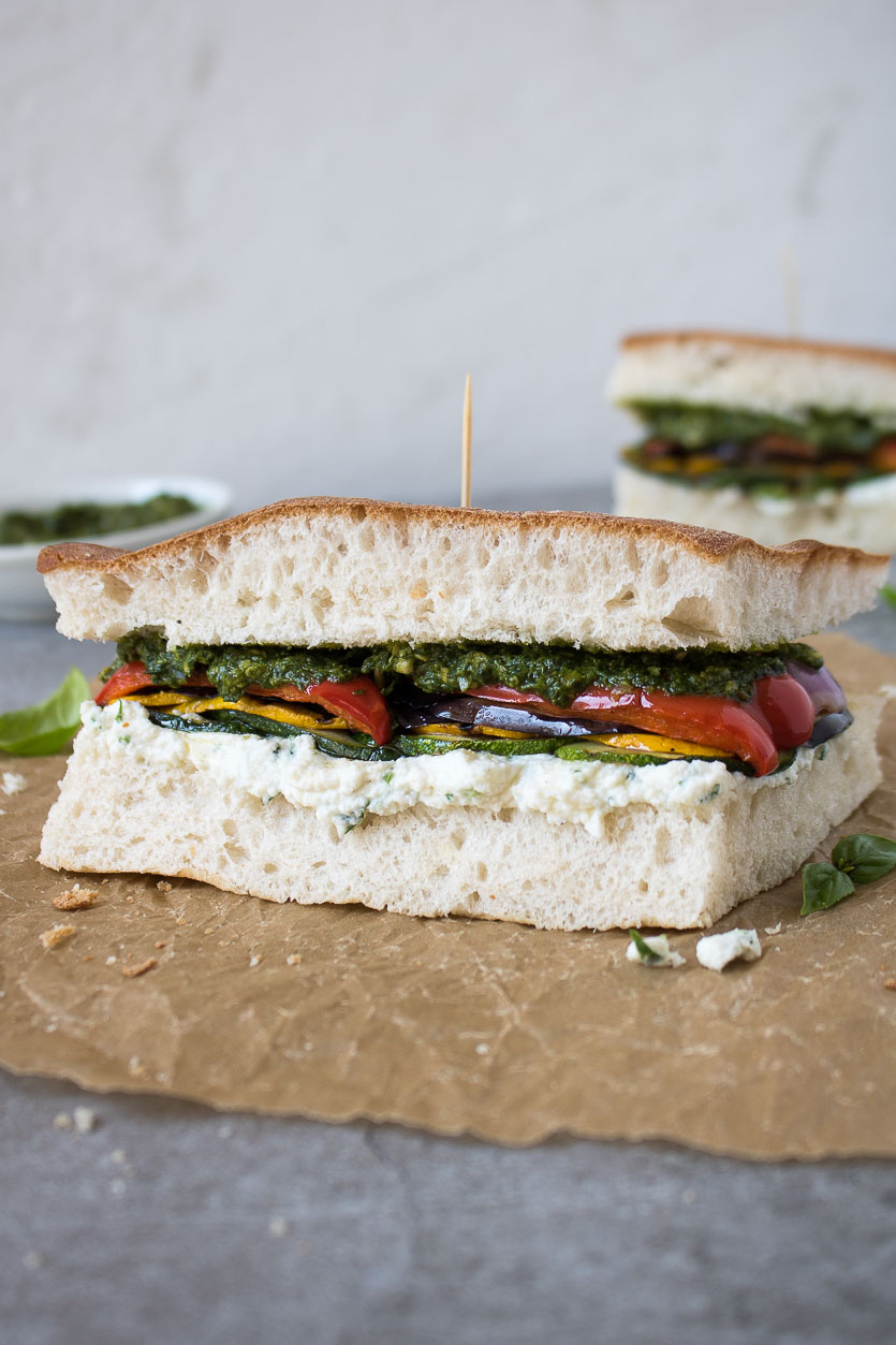 Ricotta Sandwich with Grilled Vegetables