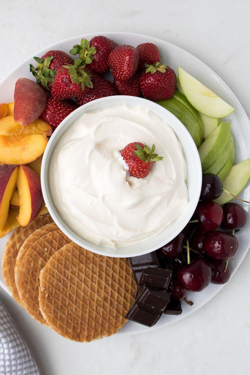 No-Bake Cheesecake Dip with Fruit