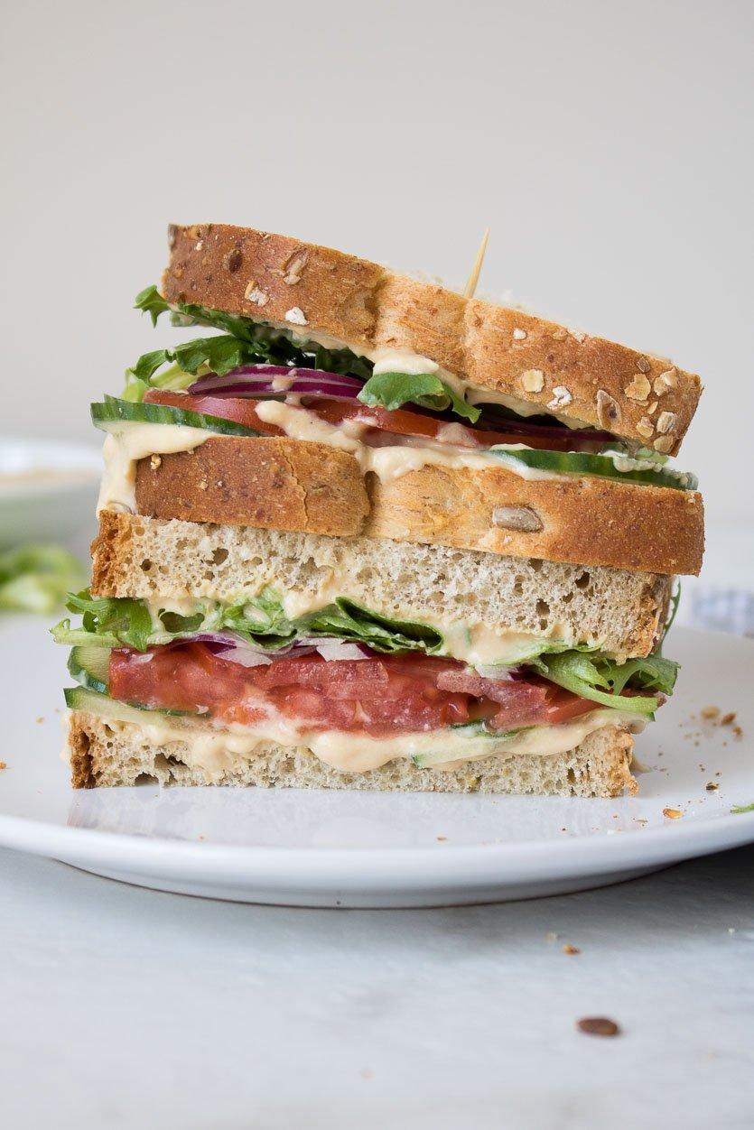 Veggie Hummus Sandwich